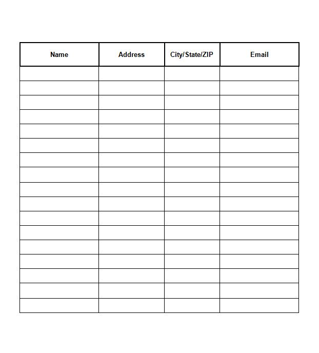 Free Sign Up Sheets Sign Up Sheets Templates  Event Sign Up