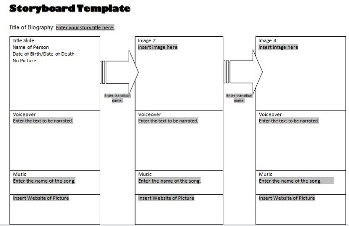 Free Storyboard Templates Blank Animation Storyboard Template