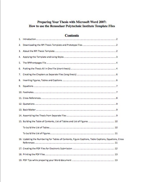 Table Of Contents Templates And Examples  Free Template Downloads