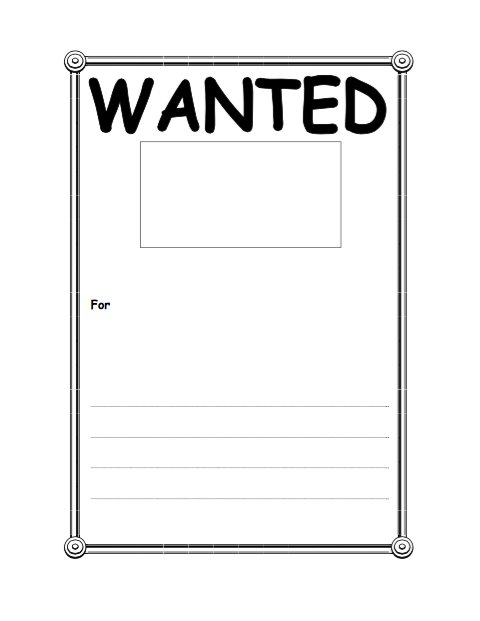 18 free wanted poster templates fbi and old west free for Free wanted poster template