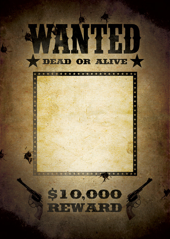18 Free Wanted Poster Templates FBI and Old West Free Free – Wanted Poster Word Template
