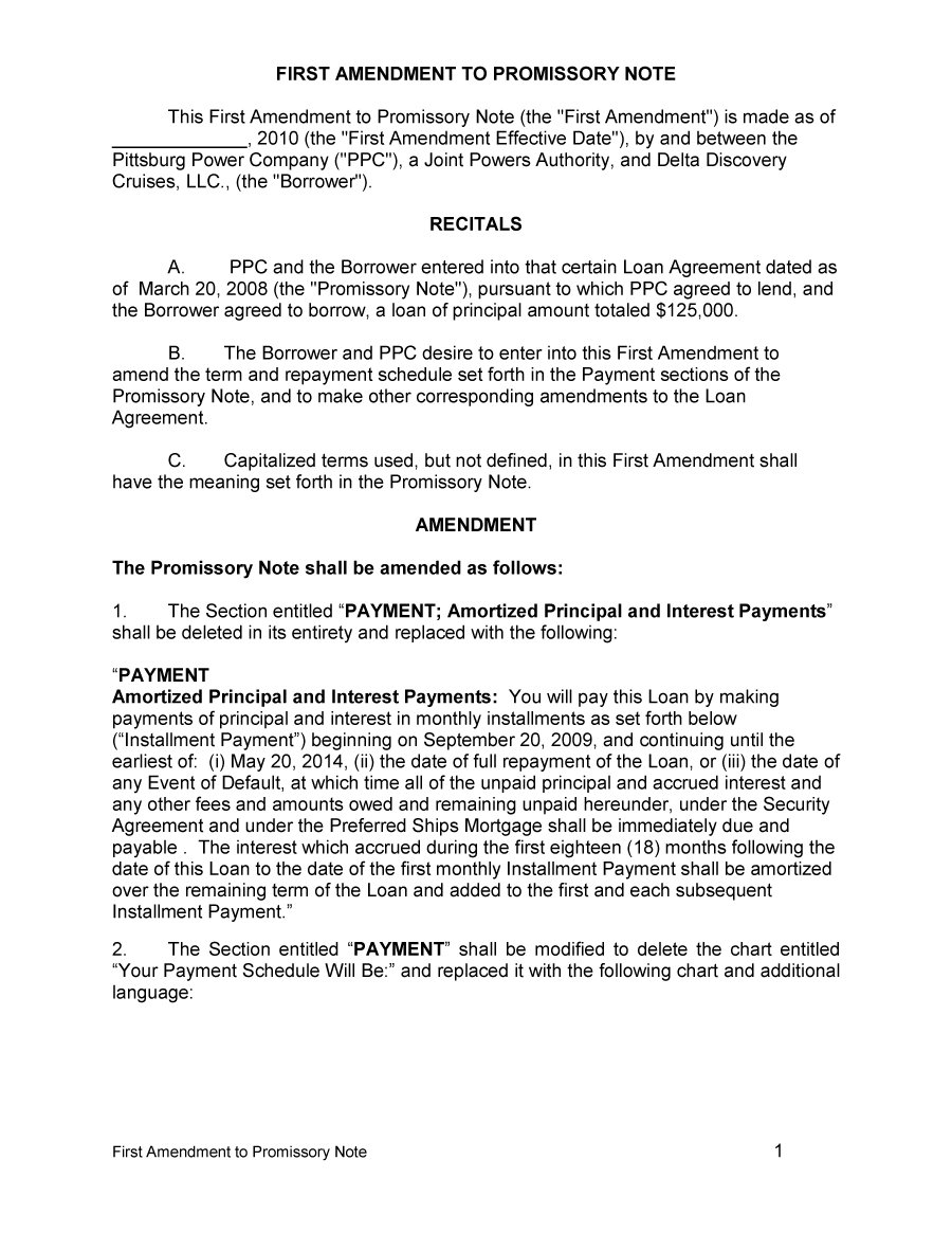 45 FREE Promissory Note Templates Forms Word PDF Free – Free Promissory Note Template