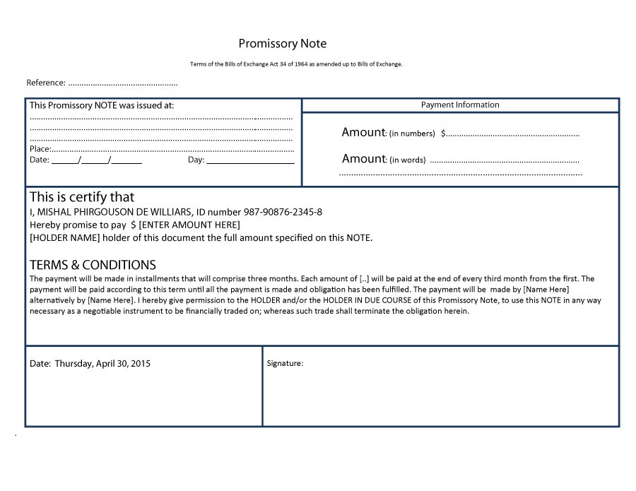 Free Promissory Note Templates  Forms Word  Pdf  Free