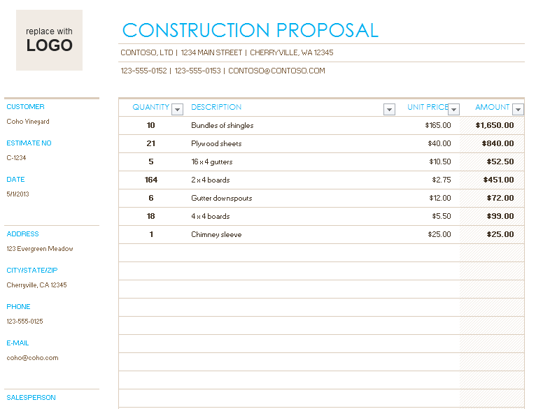 17+ Free Construction Bid Proposal Templates