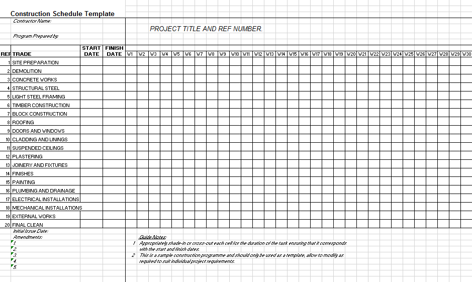 Project Schedule Template 02