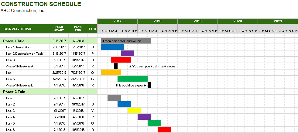 Project Schedule Template 03