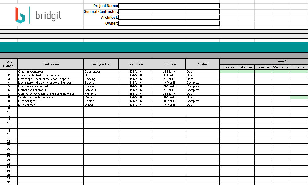 Project Schedule Template 04