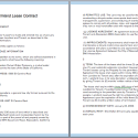 Commercial Lease Contract Template