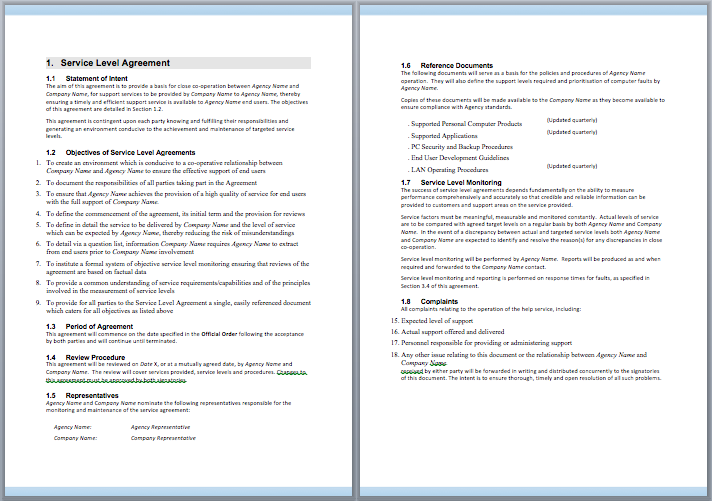 Information Technology Support Services Contract Template
