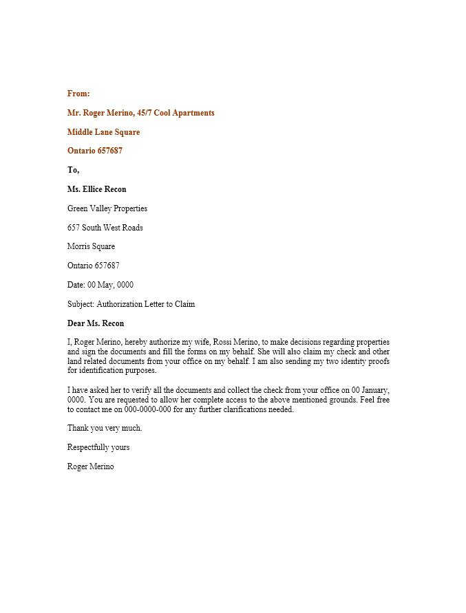 Authorization Letter For Documents from www.freetemplatedownloads.net