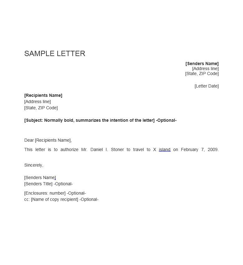 letter of authorization to use property 46 free authorization letter samples amp templates free 15677