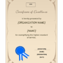 Recognition Award Template
