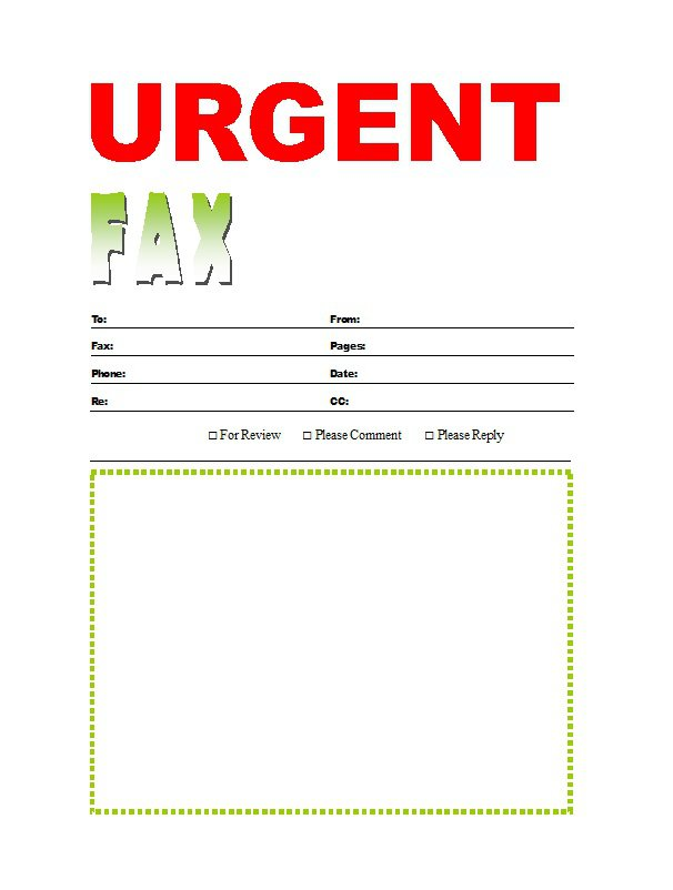 It's just a picture of Printable Fax Cover Sheet with fax template