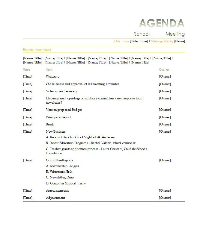 51 Effective Meeting Agenda Templates