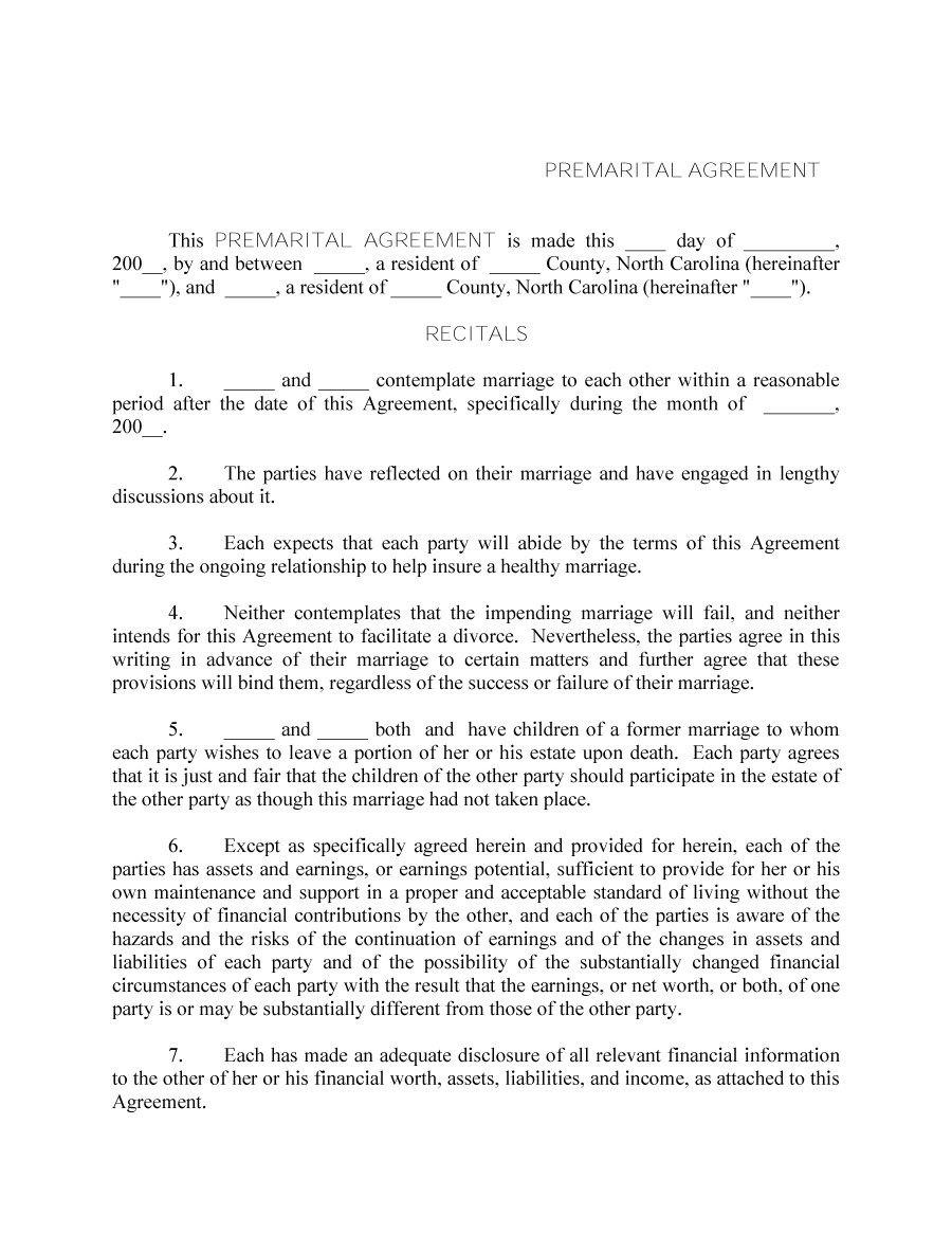 31 Free Prenuptial Agreement Samples Forms Free Template Downloads