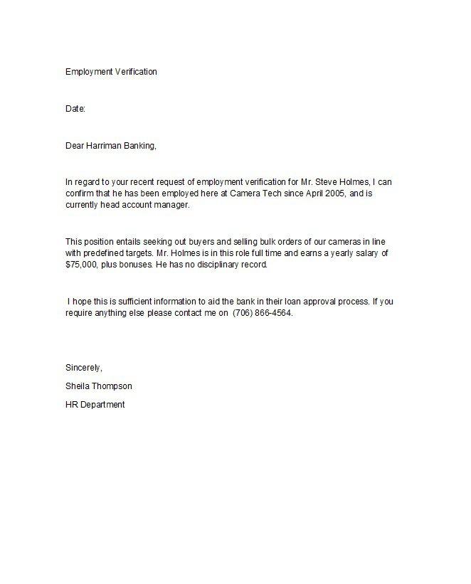 Self Employment Verification Letter from www.freetemplatedownloads.net