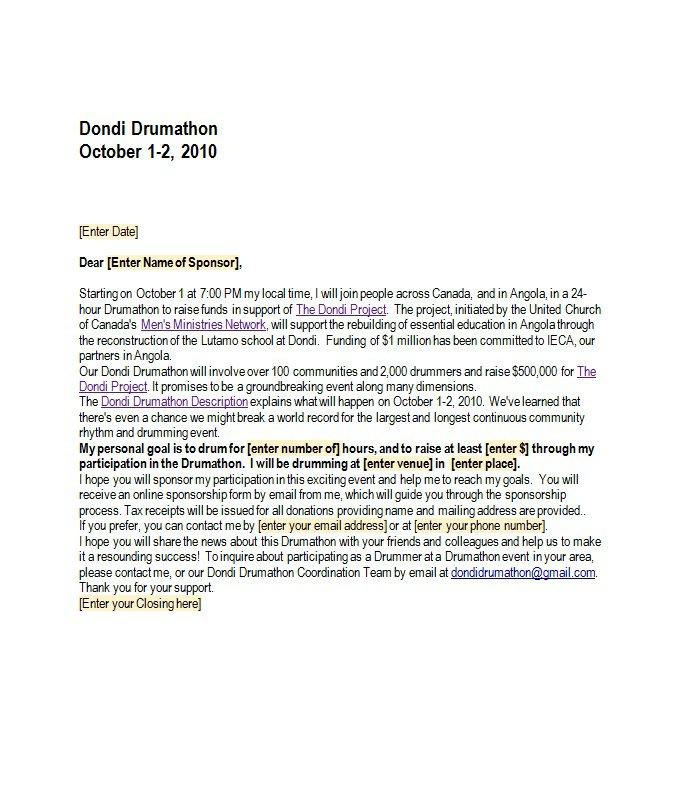 Begging Letter Sample from www.freetemplatedownloads.net