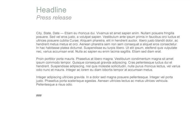 47 Free Press Release Templates