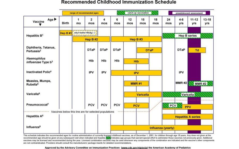 39 Useful Immunization & Vaccination Schedules [PDF]