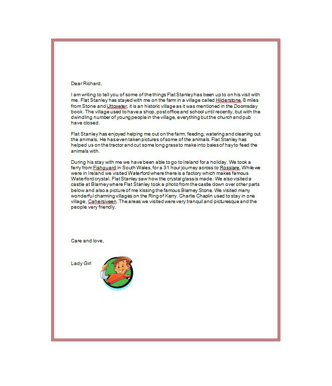 flat stanley letter 37 flat stanley templates amp letter examples free 1966
