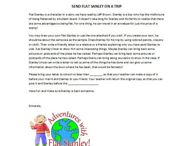 37 Flat Stanley Templates & Letter Examples