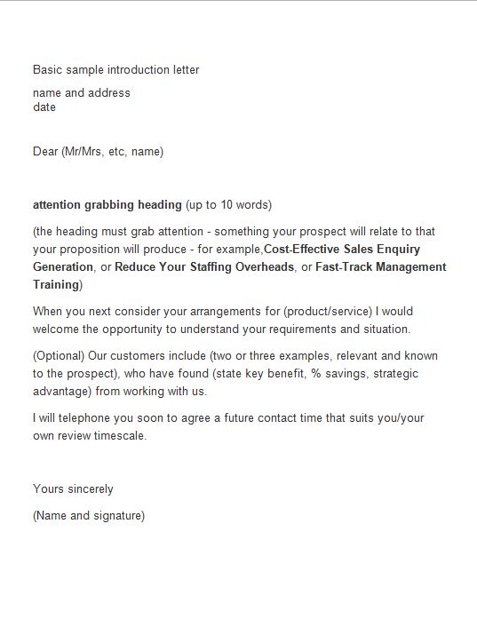 New Business Introduction Letter Sample from www.freetemplatedownloads.net