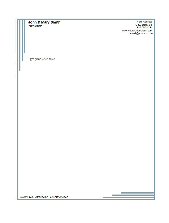 46 Free Letterhead Templates Examples Free Template Downloads