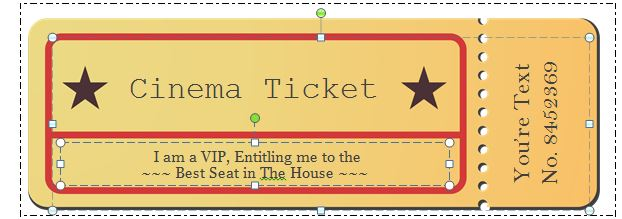 movie ticket template photoshop