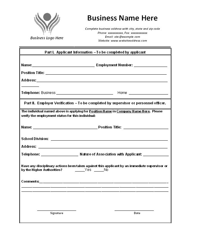 40 Proof of Employment Letters, Verification Forms, Templates & Samples