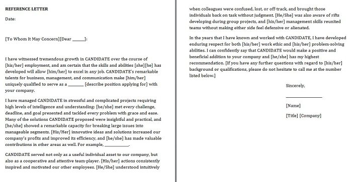 Letter Of Personal Reference Samples from www.freetemplatedownloads.net