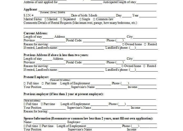 42 Free Rental Application Forms & Lease Agreement Templates