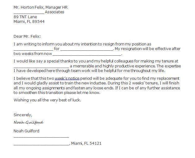 2 Week Notice Letter from www.freetemplatedownloads.net