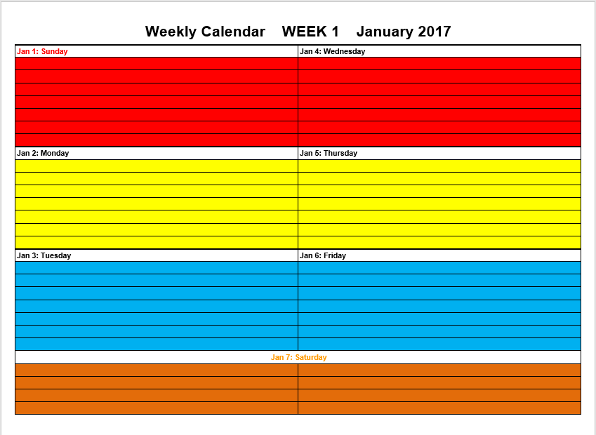 8 Free Study Schedule Templates - MS Excel Format