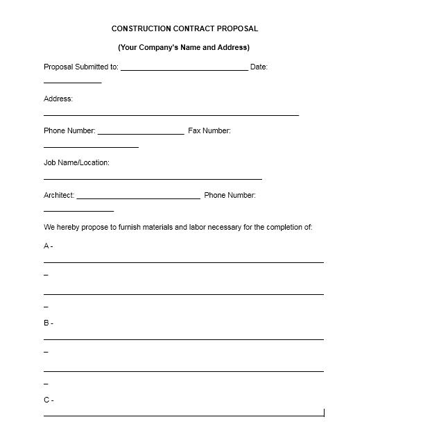 bid proposal template 10