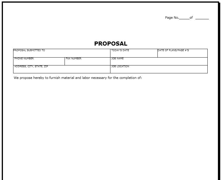 bid proposal template 13