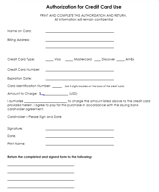 credit card authorization form template 05