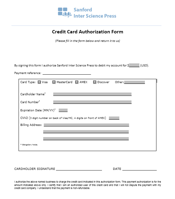 credit card authorization form template 10