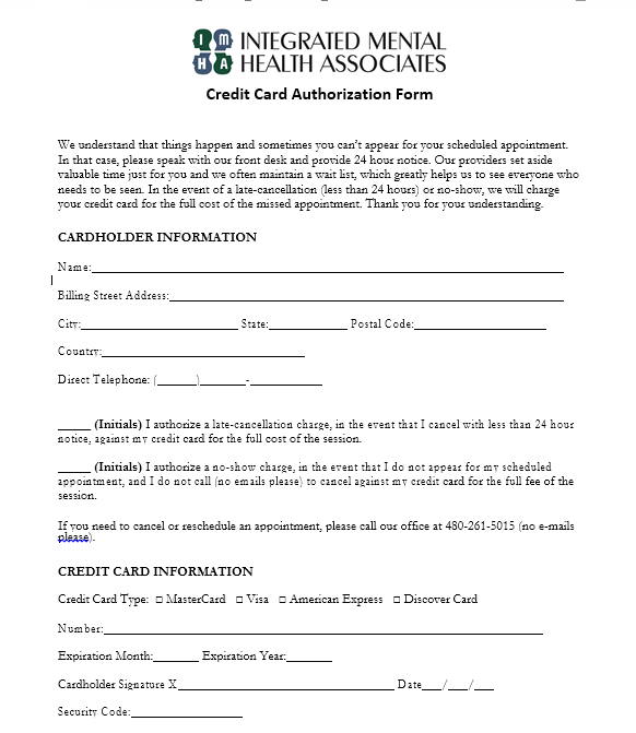 credit card authorization form template 18